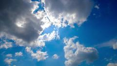 Time lapse clouds. Variable time. The sun pierced the clouds. Stock Footage