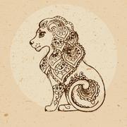 Zodiac sign - Leo Stock Illustration