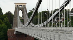 Clifton Suspension Bridge. Bristol. Close shot - stock footage