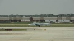 Air Canada Express regional prop plane Stock Footage