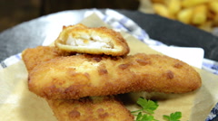 Fried fish (not loopable) Stock Footage