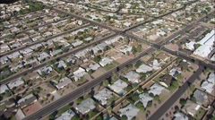 Arizona Suburbs Desert City Stock Footage
