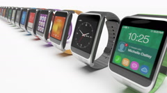 Smart watch concept - stock footage