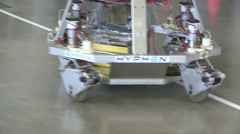 University robotics competition promoting study of engineering math science Stock Footage