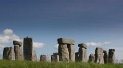 4k stone henge england tourism monolith stones Stock Footage