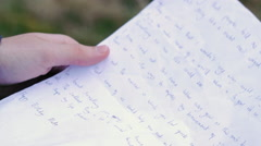 Unfolding Letter Stock Footage