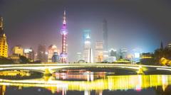 4k resolution Shanghai skyline Stock Footage