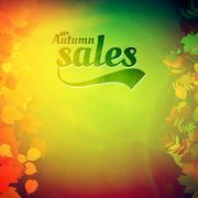 Autumn sale design template. Stock Illustration