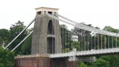 Clifton Suspension Bridge. Bristol - stock footage