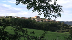 France Burgundy landscape with hill town 4k Stock Footage