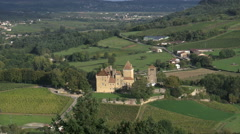 France Burgundy Pierreclos castle zooms out 4k Stock Footage