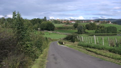 France Burgundy road past fence 4k Stock Footage