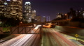 4K LA Night Cityscape 06 Loop Timelapse Downtown 110 Freeway 4k or 4k+ Resolution