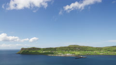 4k uig isle of skye scotland timelapse mountains coast Stock Footage