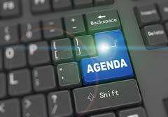 3d keyboard - word agenda - stock illustration