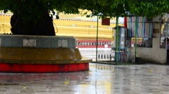 Raindrop at Shwemawdaw Paya Pagoda in Bago, Myanmar Stock Footage