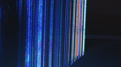 extreme close up of broken lcd tv screen 6 - stock footage