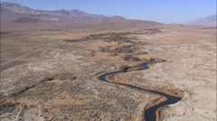 Desert River Mountain Aqueduct - stock footage