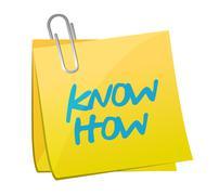 know how post illustration design - stock illustration