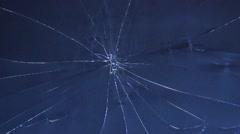 Close up of broken lcd tv screen Stock Footage