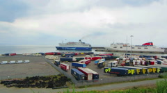 Europort Rosslare Wexford Stock Footage
