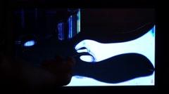 broken lcd tv screen 3 - stock footage