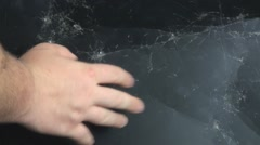 Destroyed lcd monitor screen 2 Stock Footage