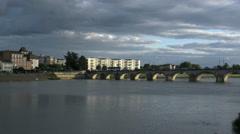 France Macon on the Saone bridge 4k Stock Footage