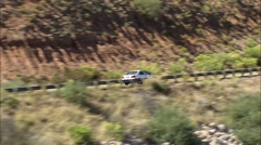 Stock Video Footage of Arizona Mountains Lake Bridge