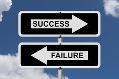 Stock Illustration of success versus failure