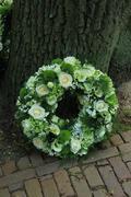 sympathy wreath - stock photo