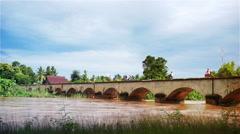 Bridge Si Phan Don Stock Footage