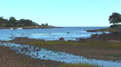 Beach in Cove Stock Footage