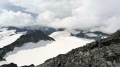 Summit of Galdhøpiggen highest top mountain in Scandinavia 8,100 ft Stock Footage