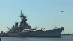 The USS New Jersey Stock Footage