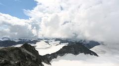 Summit of Galdhøpiggen highest mountain top in Scandinavia 8,100 ft Stock Footage