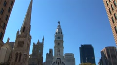 Philadelphia City Hall Skyline Stock Footage