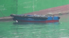 Close up of a little boat Stock Footage