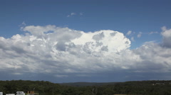 Storm Time Lapse of Developing Updrafts Stock Footage