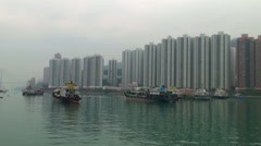Old ships on the water Stock Footage