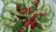 Salad rotating natural light Stock Footage