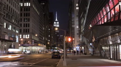 Empire State Building in Manhattan Timelapse Night Beautiful 5th Ave NYC 4K Stock Footage
