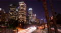 4K LA Night Cityscape 19 Tilt Up Timelapse Downtown 110 Freeway Footage
