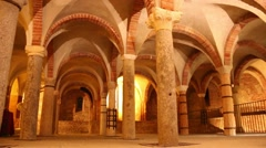 Milan, crypt San Giovanni in Conca Stock Footage