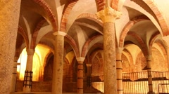 Milan, crypt San Giovanni in Conca Stock Footage