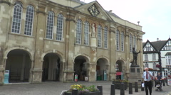 Shire Hall Monmouth 3 - stock footage