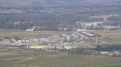 Aerial Oil and Gas industry Stock Footage