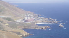 Aerial view of Diablo Canyon Power Plant California Stock Footage