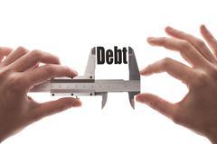 Measuring debt Stock Photos