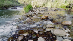 River In Flow over Smooth Stones, stream creek Also in 4K  Stock Footage